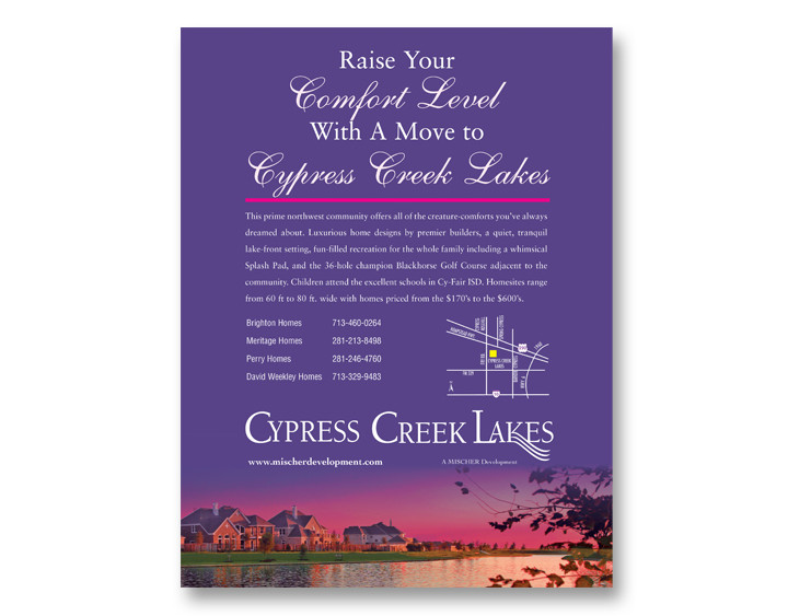 Cypress Creek Lakes Ad