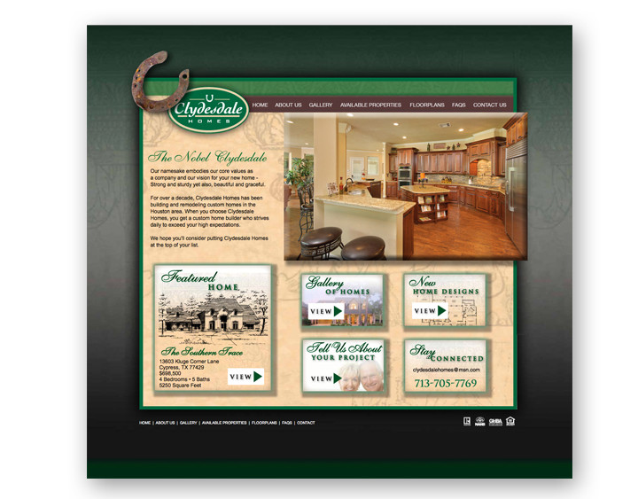 Clydesdale Homes Website