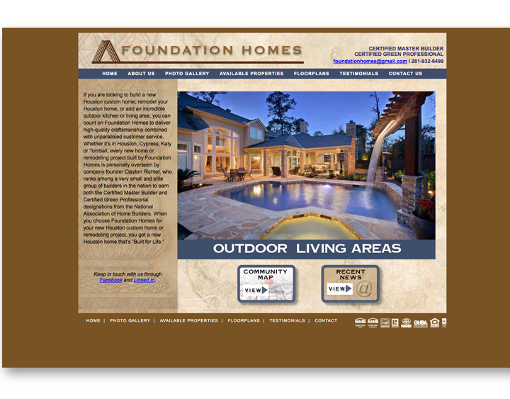Foundation Homes Website